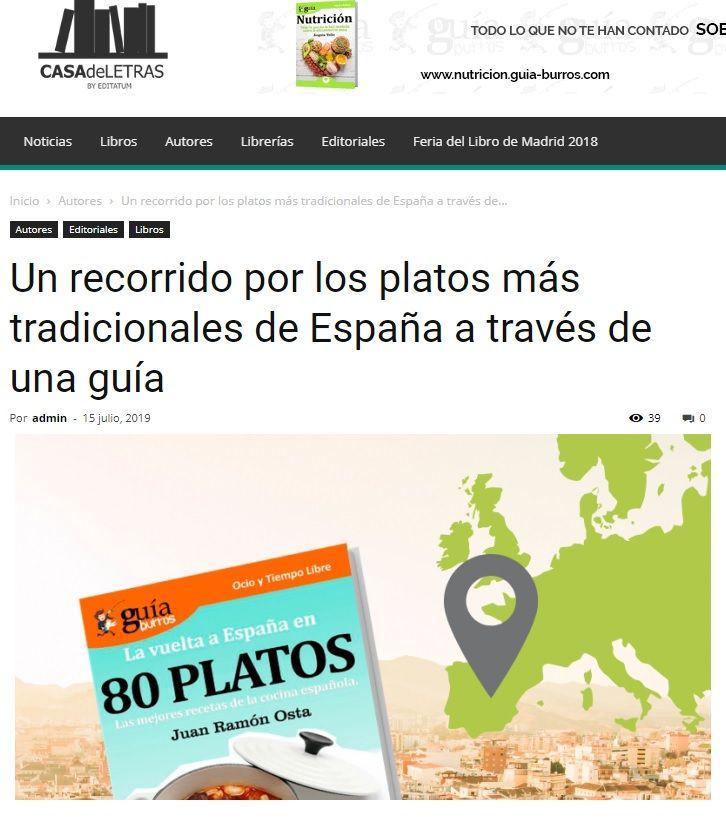 El GuíaBurros: La vuelta al mundo en 80 platos en el medio Casa de Letras